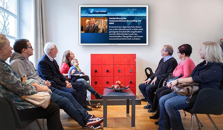 Unterhaltung ist wichtig, um die Zeit zu verkürzen - Wartezimmer TV hilft